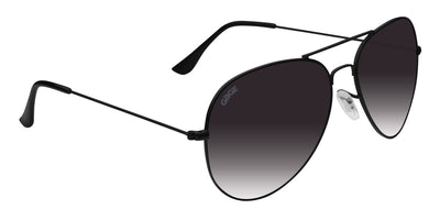 Black Sunglasses With Polarized Smoke Faded Lenses