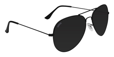 Black Sunglasses With Polarized Smoke Lenses