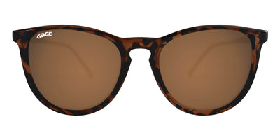 Glossy Tortoise Shell Round Eye Sunglasses With Amber Lenses