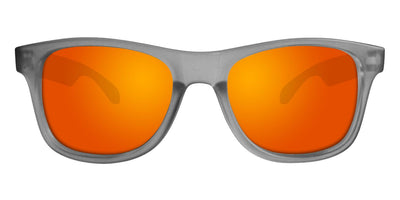 Grey Sunglasses With Orange Mirrored Lenses