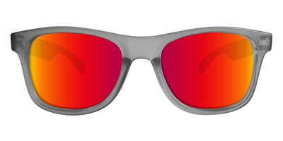 Grey Sunglasses With Punch Mirrored Lenses