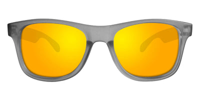 Grey Sunglasses With Yellow Mirrored Lenses