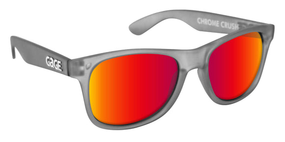 Grey Wayfarer Sunglasses With Punch Mirrored Lenses