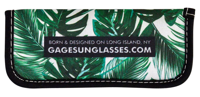 Tropical Leaves Soft Pouch Front