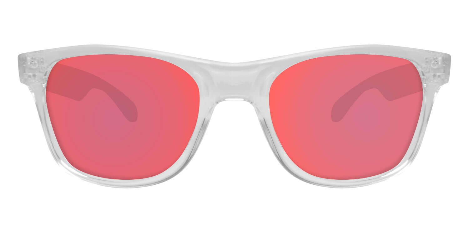 Clear Sunglasses With Berry Pink Lenses