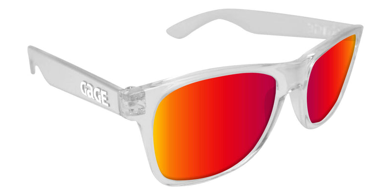 Clear Sunglasses With Punch Mirrored Lenses