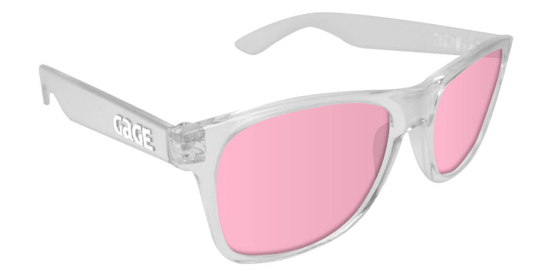 Clear Sunglasses With Rose Pink Lenses