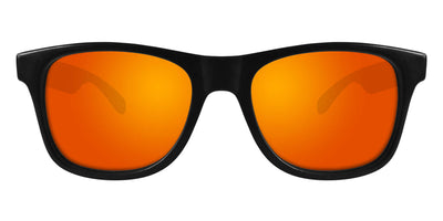 Black Sunglasses With Orange Mirrored Lenses
