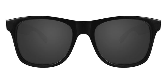 Black Wayfarer Sunglasses With Smoke Lenses