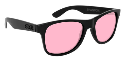 Black Sunglasses With Rose Pink Lenses