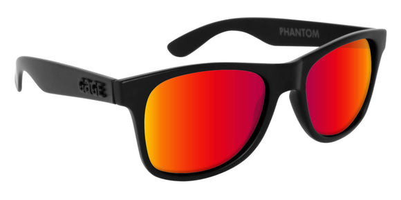Black Wayfarer Sunglasses With Punch Mirrored Lenses