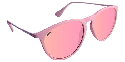 Bubblegum Pink Sunglasses With Pink Metal Arms and Polarized Pink Lenses
