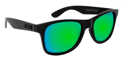 Black Sunglasses With Apple Green Mirrored Lenses