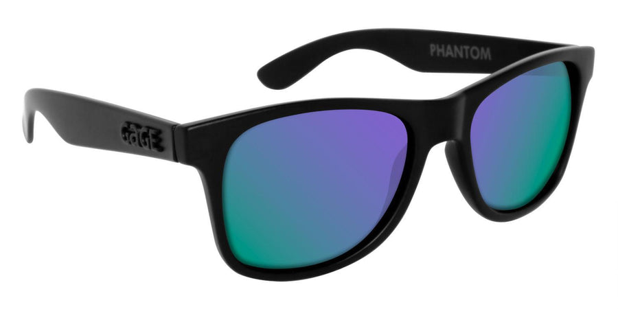 Black Sunglasses With Purple Mirrored Lenses