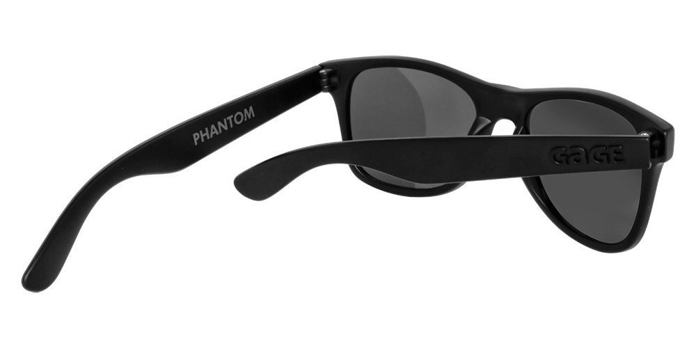 Black Wayfarer Sunglasses With Silver Mirrored Lenses