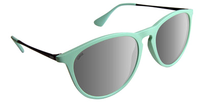 Teal Sunglasses With Black Metal Arms and Polarized Silver Mirror Lenses