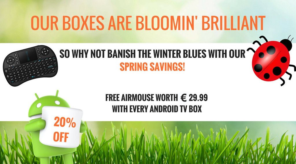 Android tv box ireland. Spring savings on all of our android tv boxes from android tv ireland.