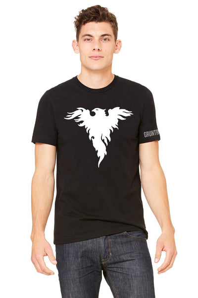 Gruntruck White on Black Shirt