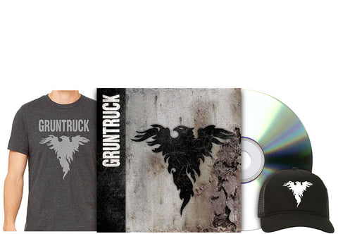 Gruntruck - S/T [CD] / Shirt / Hat Gift Set