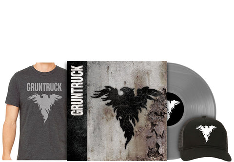 Gruntruck - S/T [Vinyl] / Shirt / Hat Gift Set