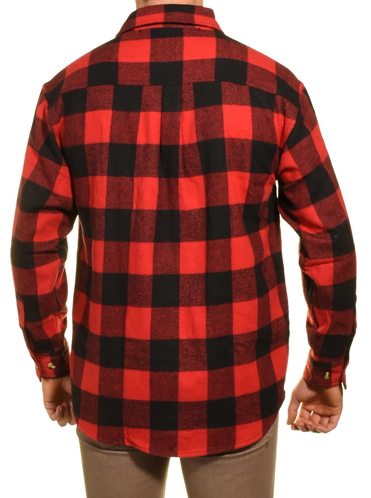 Guides Choice Pro Elite Mens Heavy Duty Flannel Shirt (Red Black Buffalo Check)