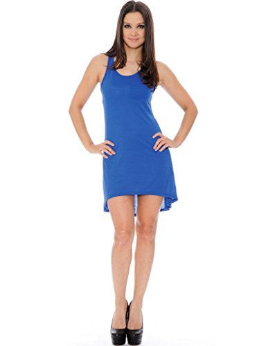 True Rock High Low T-Shirt Dress (Royal Blue)