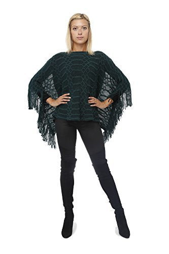 Highness Slub Knit Fringed Poncho Shirt - The Discount Divas