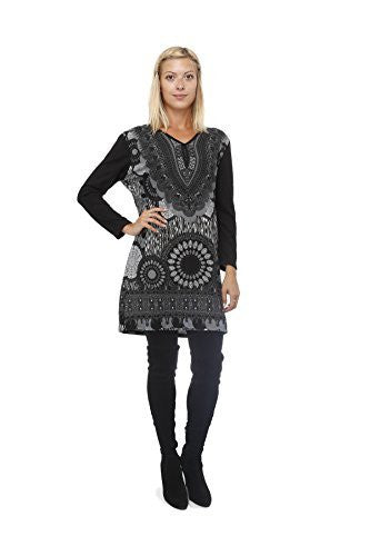 Highness Womens Dashiki Sweater Dress - The Discount Divas