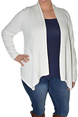 Fever Fly Away Open Cardigan (Ivory White),Cardigan,Fever - Discount Divas