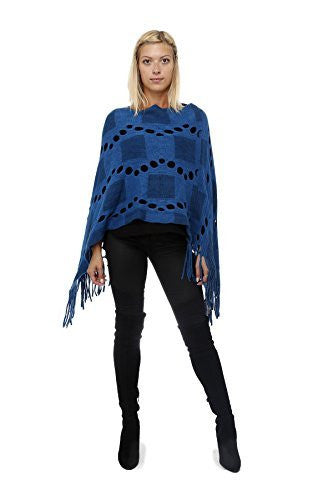 Highness Square Asymmetrical Poncho,Sweaters,Highness - Discount Divas
