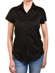 Guides Choice Womens Outdoor Polo Shirt (Black Solid),Shirts,Guides Choice - Discount Divas