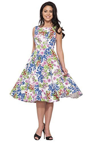 Country Garden Floral Swing Dress,Dress,H & R - Discount Divas