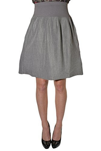 Tonga Soft Fleece Accordion Aline Skirt (Gray),Skirts,Tonga - Discount Divas