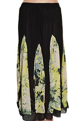 Highness NYC Chiffon Godet Long Skirt - The Discount Divas