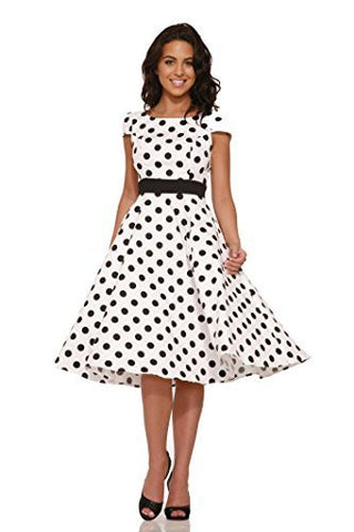 Dancing Dots Full Swing Dress,Dress,H & R - Discount Divas