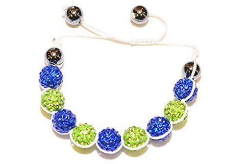 Shamballa Crystal Bracelet (Blue & Green),Earrings,Diva Sport - Discount Divas