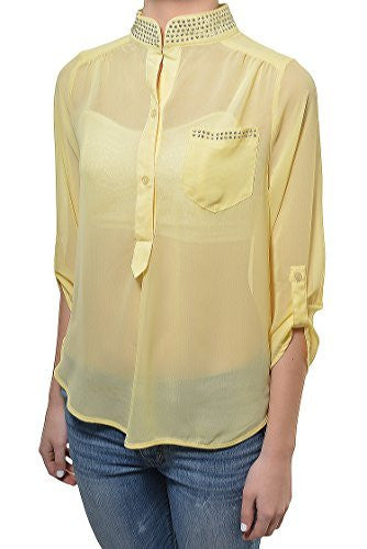 Penelope Project High Low Sheer Blouse,Shirts,Penelope Project - Discount Divas