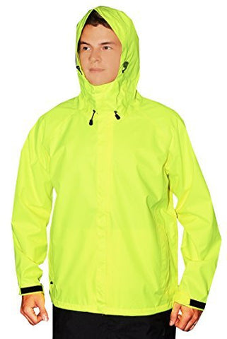 Guides Choice Mens Breathable Waterproof Seattle Storm Watch Parka - High Vis Yellow,Outerwear,Guides Choice - Discount Divas