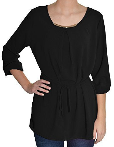 Carrie Allen Metal Accent Blouse,Shirts,Carrie Allen - Discount Divas