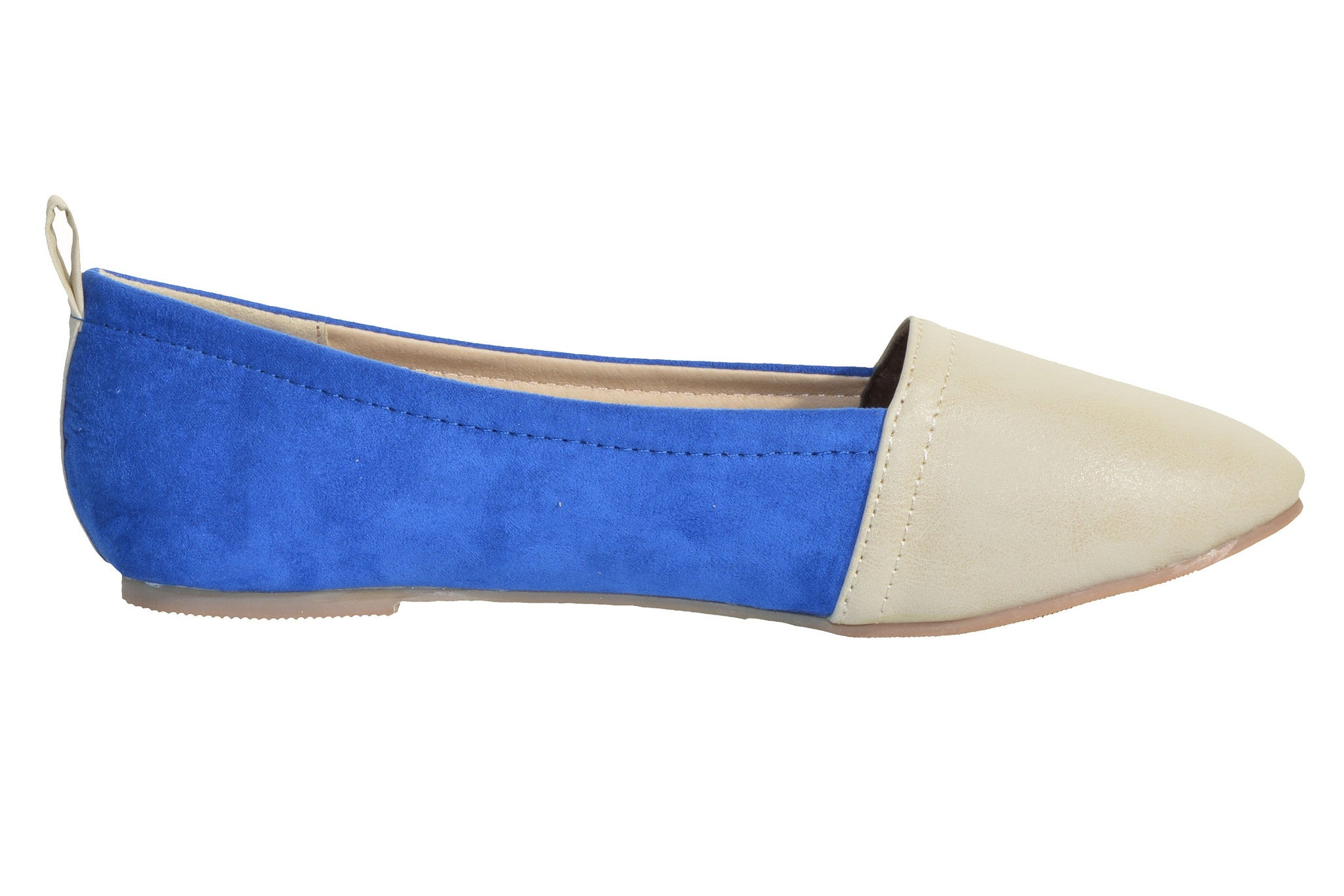 Colorblock Suede & Leather Slip-On Flat,Shoes,Niselook - Discount Divas