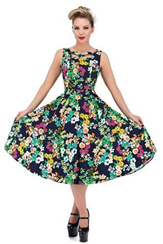 Hearts and Roses of London Eternal Floral Cutout Swing Dress,Dress,Hearts and Roses London - Discount Divas