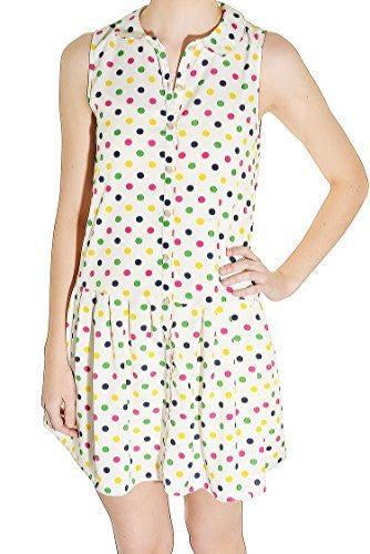 Rainbow Polka Dot Shirt Dress,Dress,Grevergate - Discount Divas