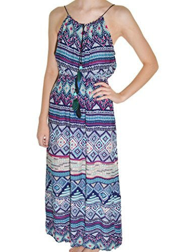 Highness NYC Feather Tie Maxi Dress - The Discount Divas