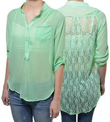 Penelope Lace Back High Low Blouse,Shirts,Penelope Project - Discount Divas