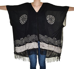 Highness NYC Batick Convertable Shawl Poncho,shirts,Highness - Discount Divas