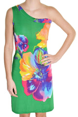 One Shoulder Floral Sheath Dress,Dress,India Boutique - Discount Divas