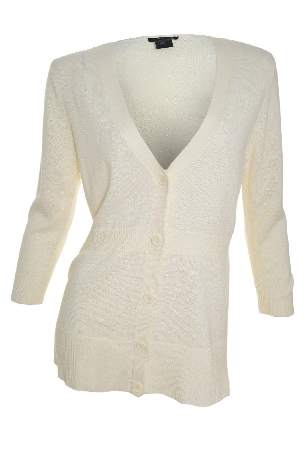 Ann Taylor Long V-Neck Cardigan (Ivory White),Cardigan,Ann Taylor - Discount Divas