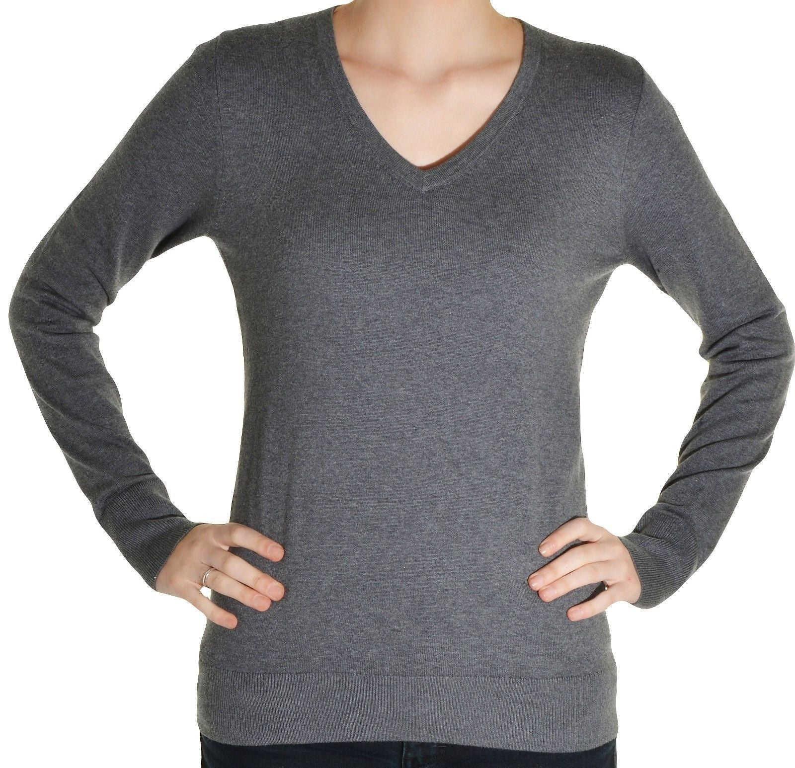 Womens Pima Cotton V-Neck Sweater - Staxxs On Deck