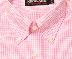 Mens Button Collar Non-Iron Dress Shirt (16.5x35),Shirts,Kirkland Signature - Discount Divas