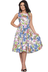 Country Garden Floral Swing Dress,Dress,Hearts and Roses London - Discount Divas